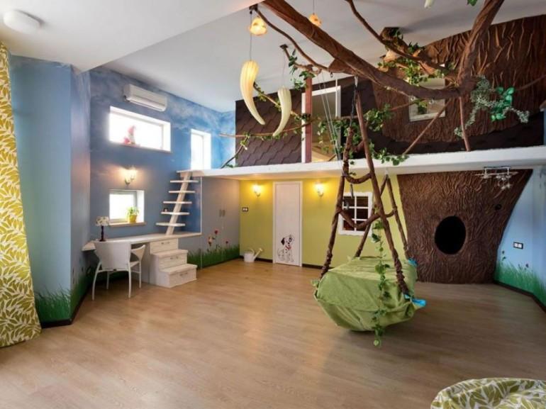 J Jungle Theme For Kids Room With Tree Fun