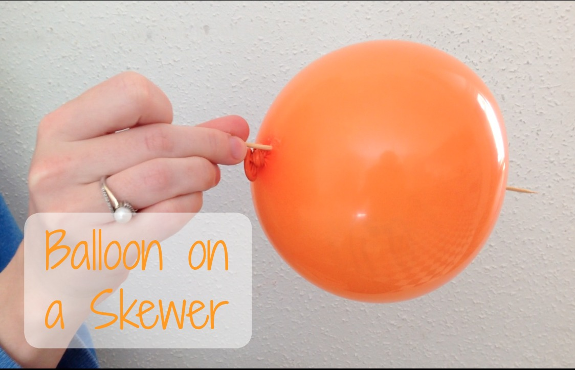 balloon on a skewer