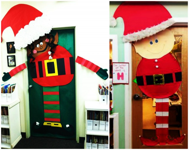 Or why not go with a more traditional elf who takes their hat off every time you open the door and puts it back on once itu0027s closed. & Best Door Decoration Inspiration For Kids At Christmas | Fun With Kids
