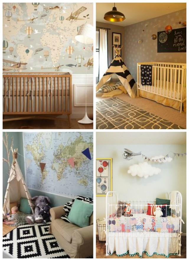 Baby Boy Room Themes Travel: Top Trendy Nursery Ideas