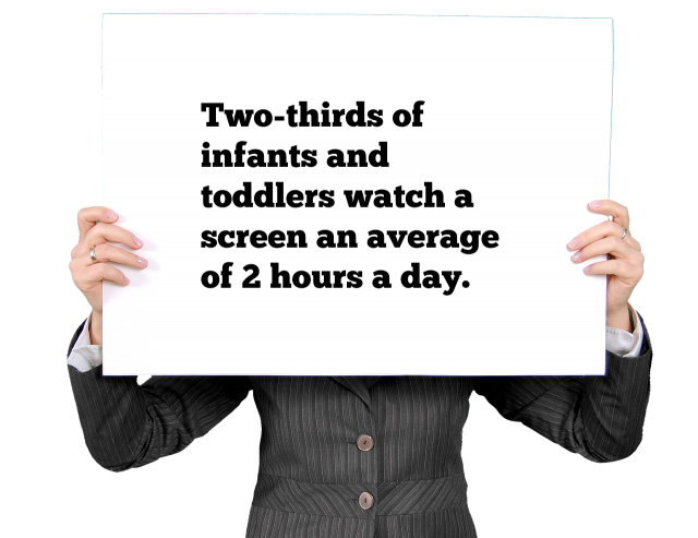 infants and toddlers watch tv