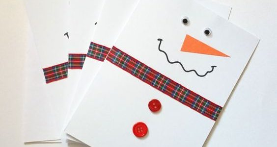 Christmas Cards easy DIY with kids
